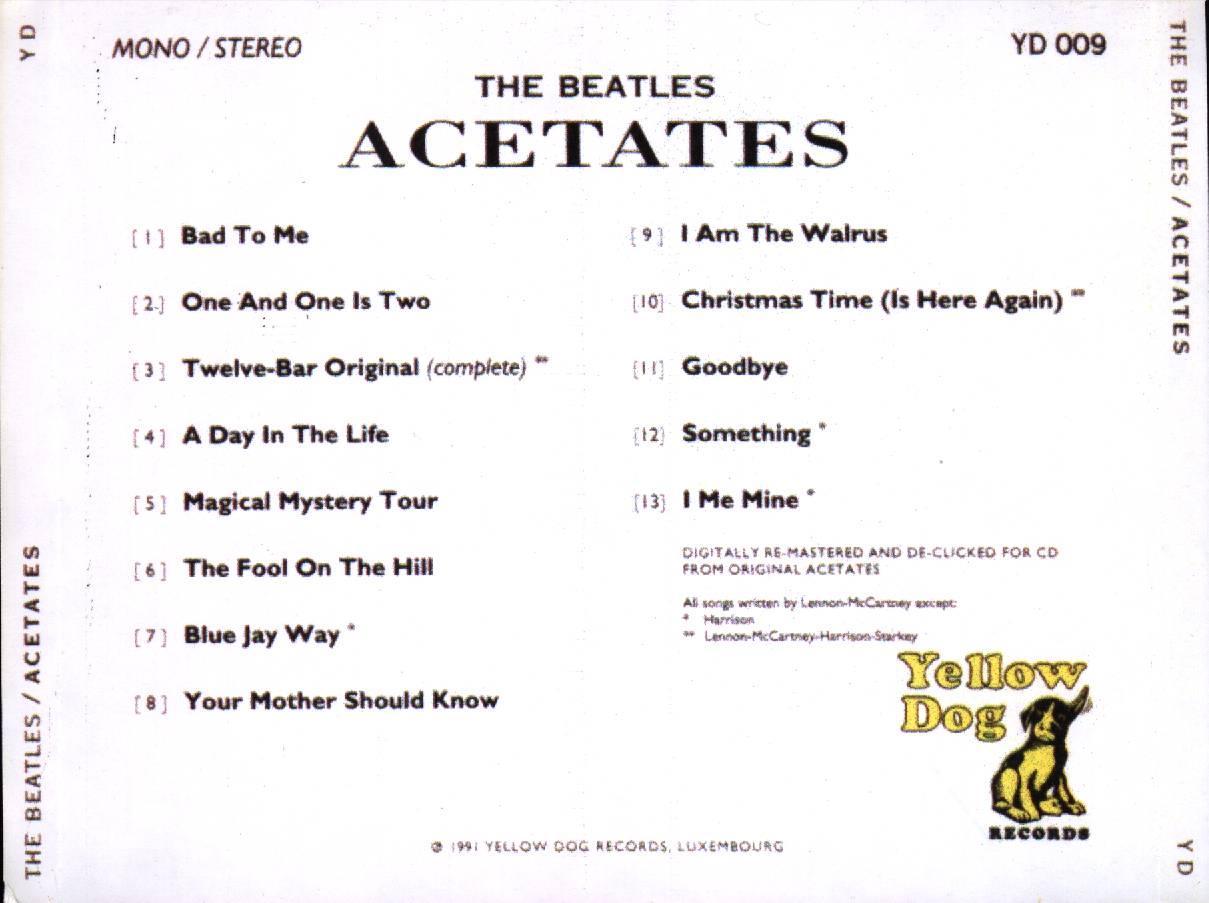 Yellow Dog Beatles Acetates