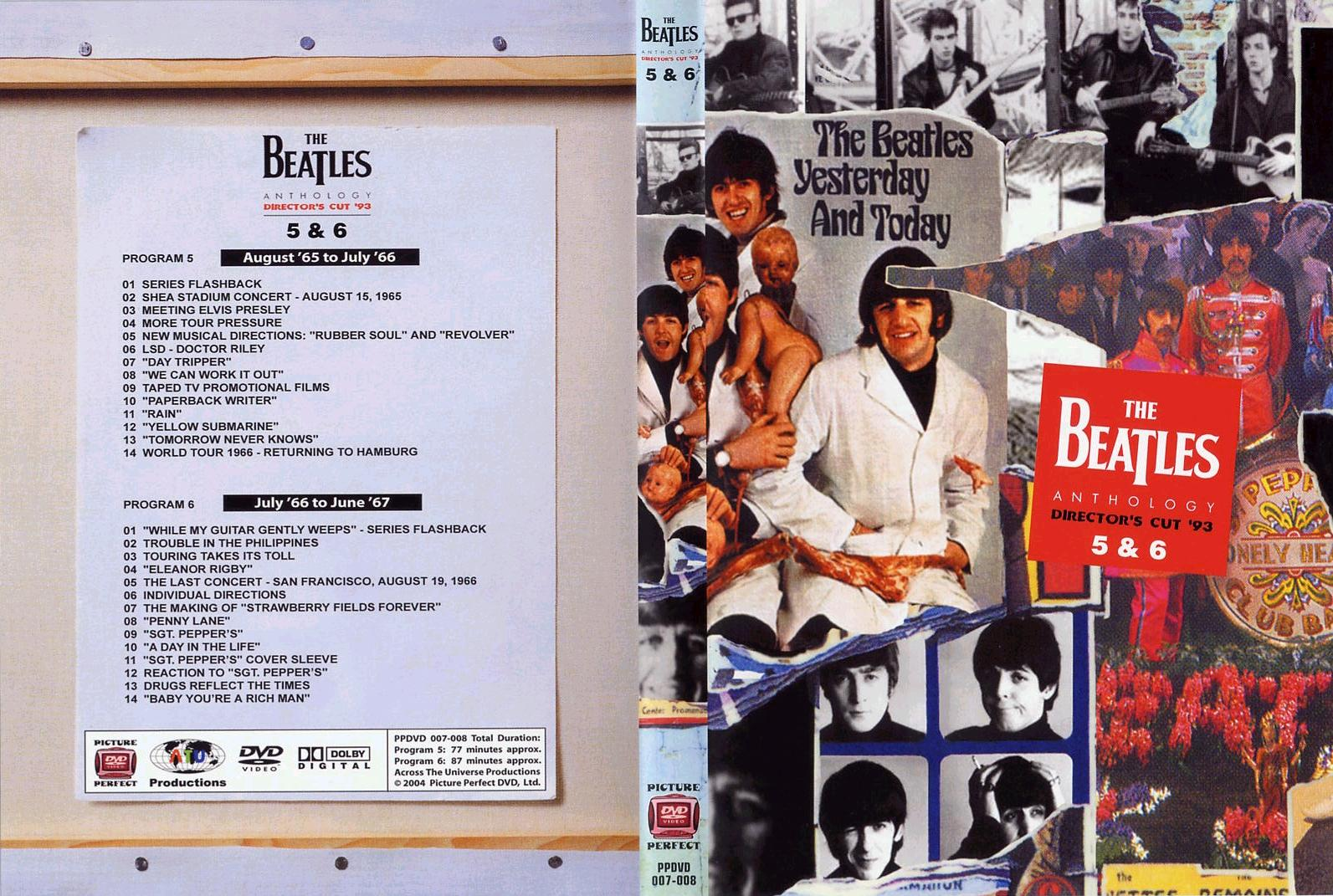 beatles anthology boxen set 5 dvd: