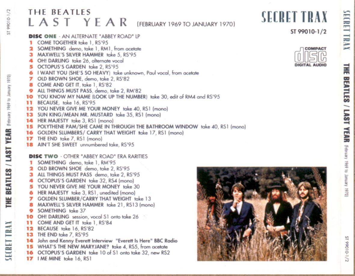 Polythene pam she came in through the bathroom window - The Beatles Last Year February 1969 January 1970 Secret Trax St 99010 1 2 Sb 5