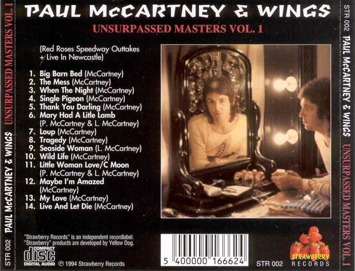 Paul McCartney and Wings - Unsurpassed Masters Volume 1