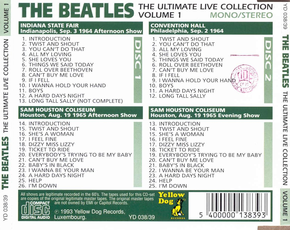 The Beatles - The Ultimate Live Collection Vol. 1