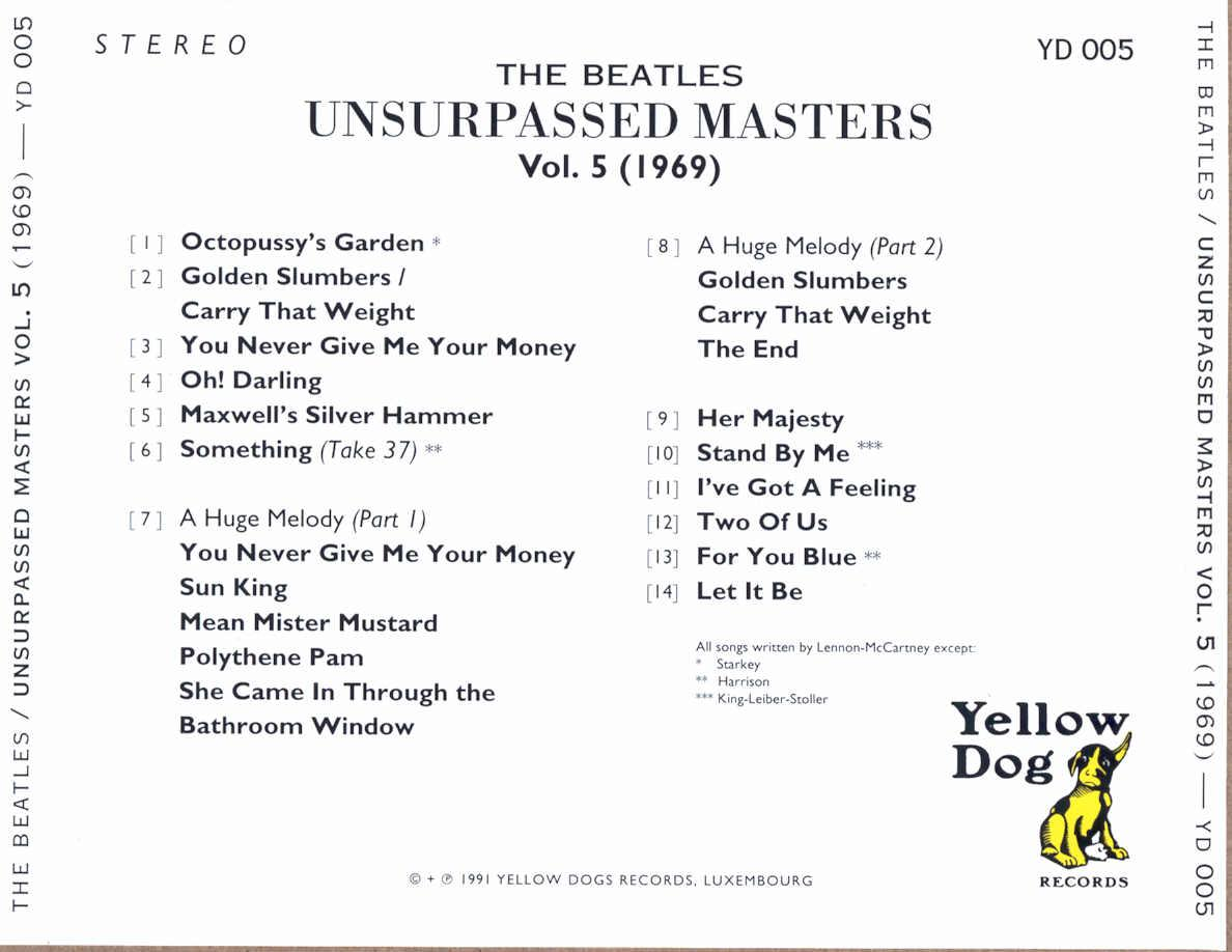 Polythene pam she came in through the bathroom window - Unsurpassed Masters Volume 5 Yellow Dog Yd 005