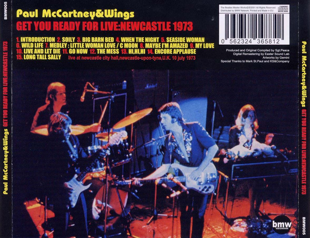 Paul McCartney and Wings - Newcastle 73