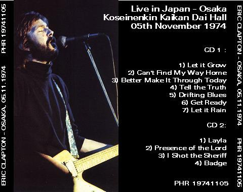 Eric Clapton Live In Tokyo