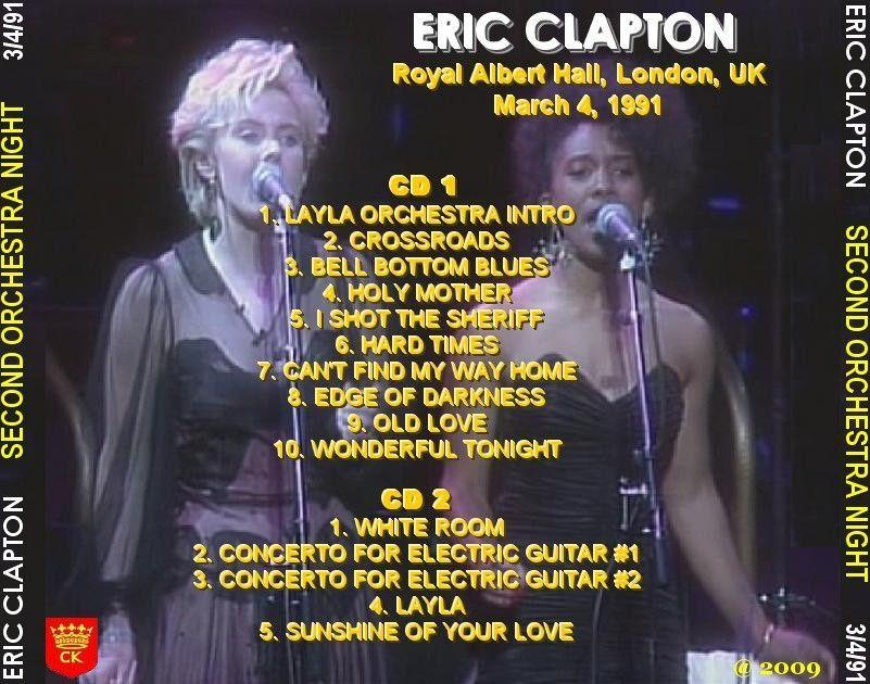 eric clapton royal albert hall london england march 4 1991. Black Bedroom Furniture Sets. Home Design Ideas