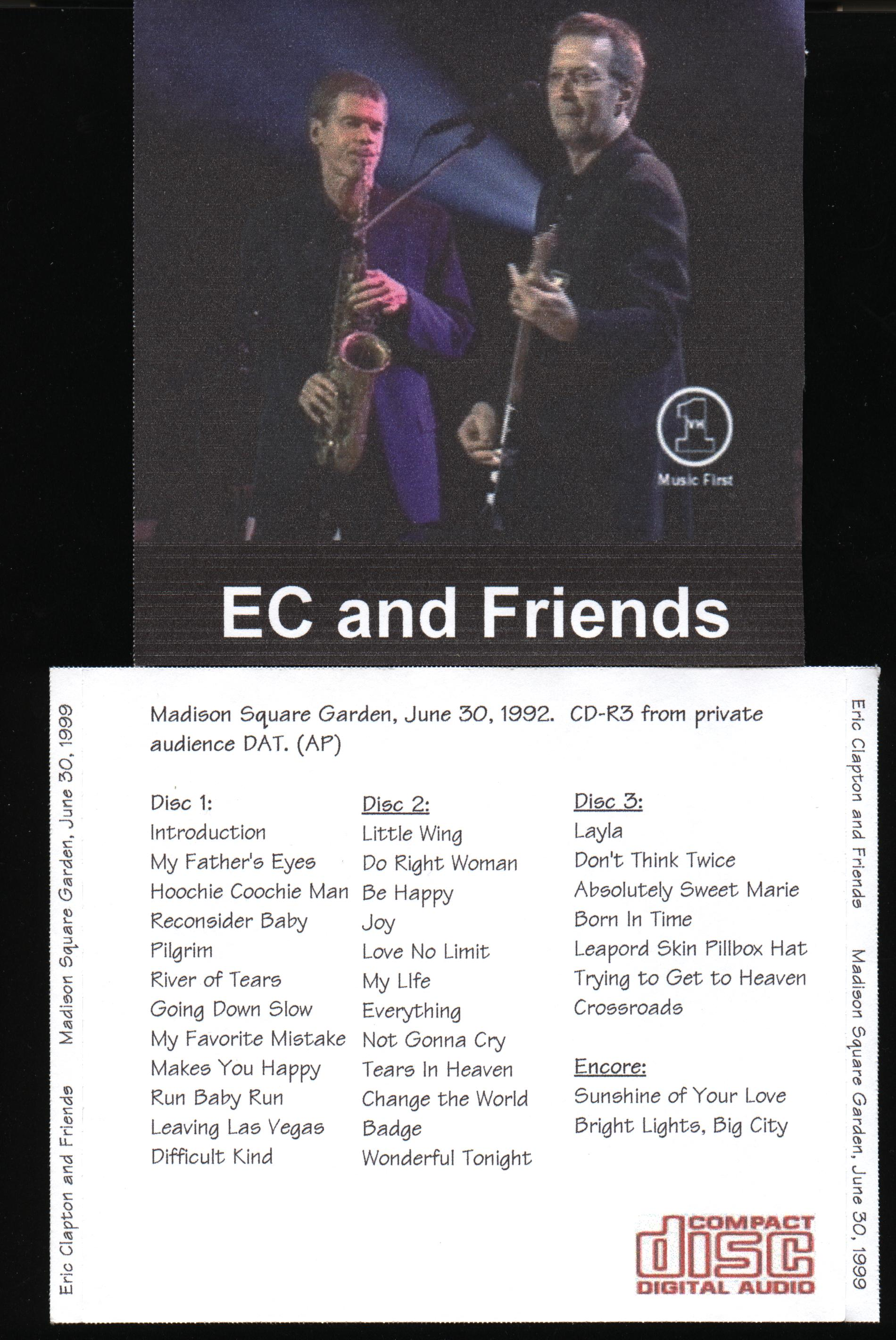 eric clapton and friends madison square garden 1999. Black Bedroom Furniture Sets. Home Design Ideas