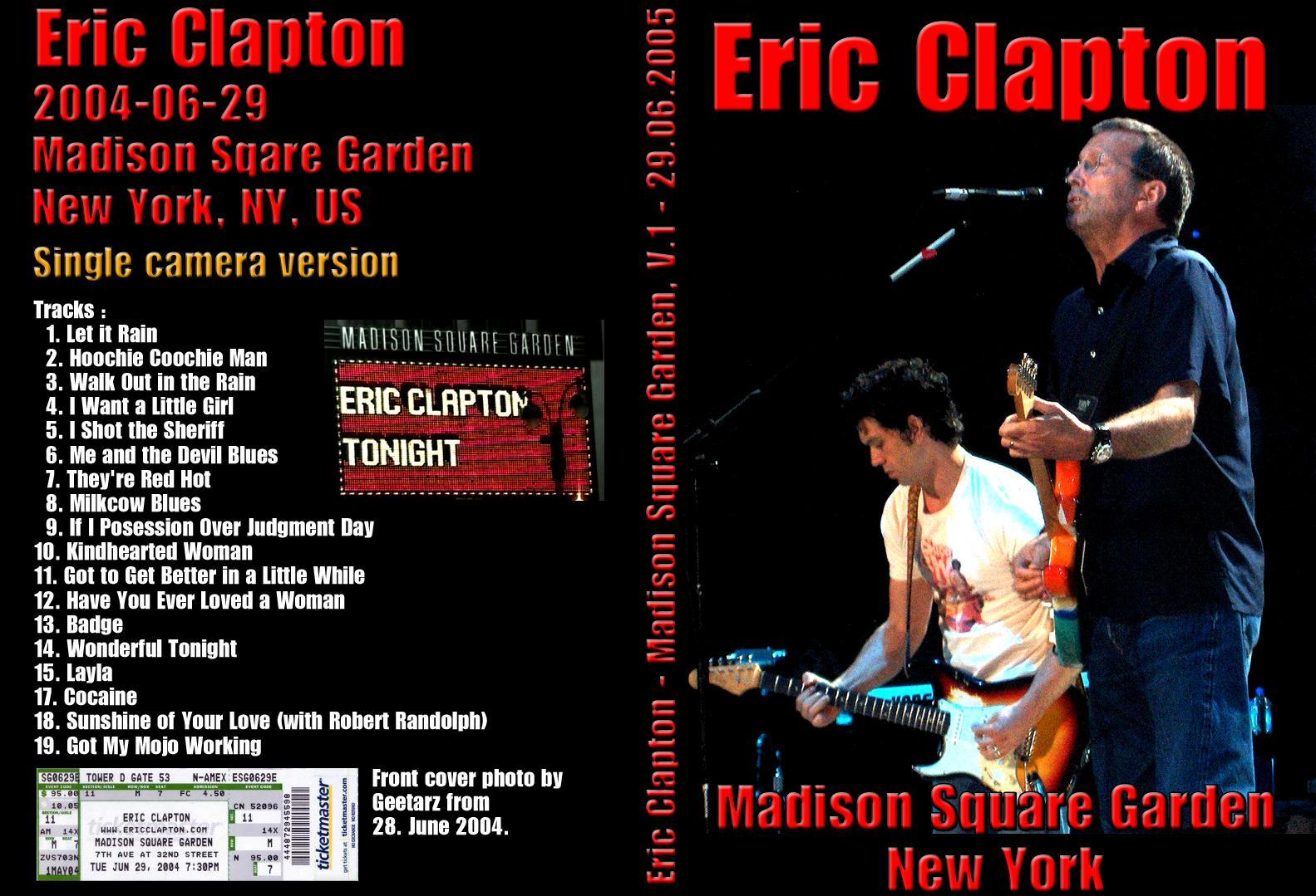 Eric Clapton Msg : eric clapton madison square garden new york ny june 29 2004 single cam dvd ~ Hamham.info Haus und Dekorationen