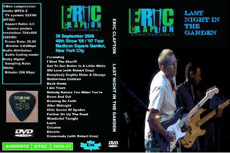 Eric Clapton Madison Square Garden New York New York September 30 2006 Dvd