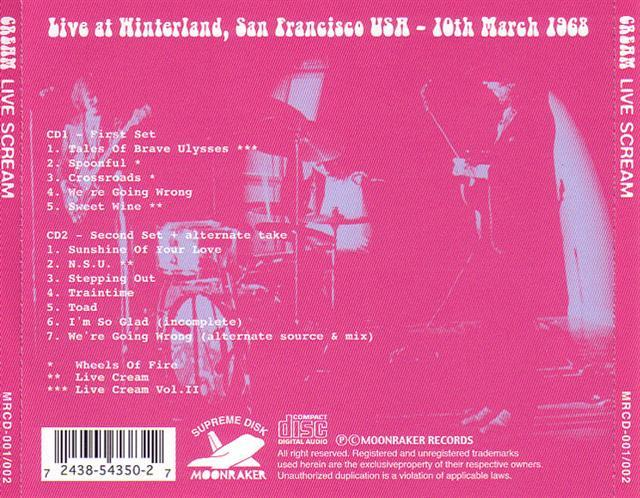 Cream - Live Scream - Winterland - San Francisco, Ca ...   640 x 498 jpeg 83kB
