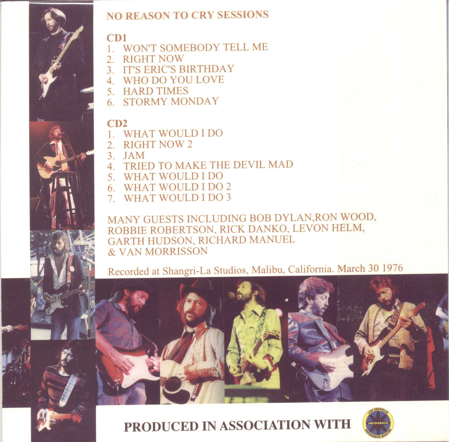 Slowhand Masterfile 4 - No Reason to Cry Sessions