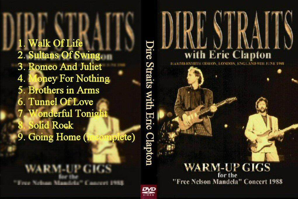 Dire Straits Warm Up With Eric Clapton June 9 1988