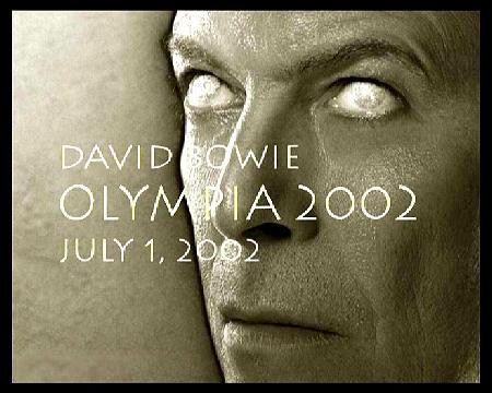 David Bowie à l'Olympia FRANCE 2002 GM affiche