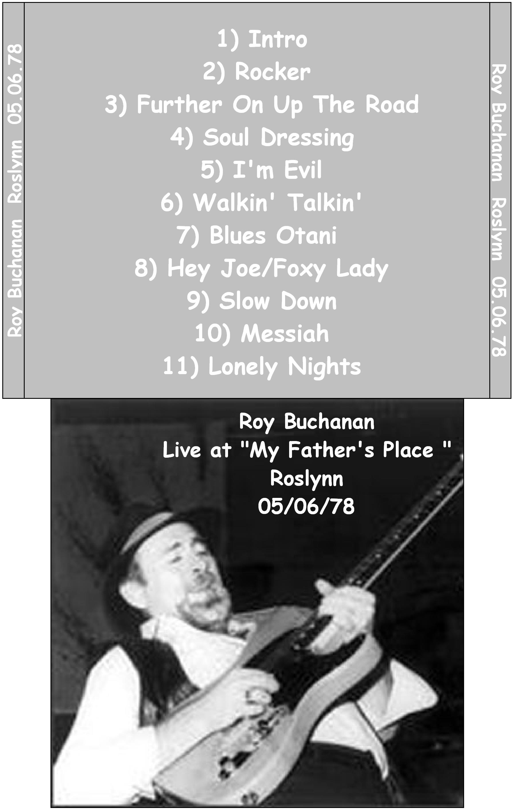Roy Buchanan - My Father's Place - Roslyn, New York - May ... Joe Fm