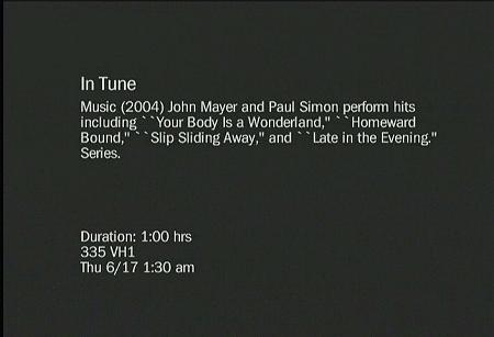 Paul Simon With John Mayer In Tune