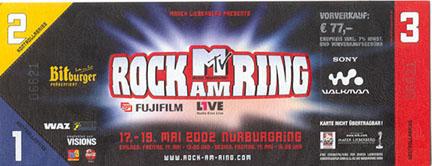 Rock Am Ring Karte.Neil Young Rock Am Ring Festival Eifel Germany May 18 2002