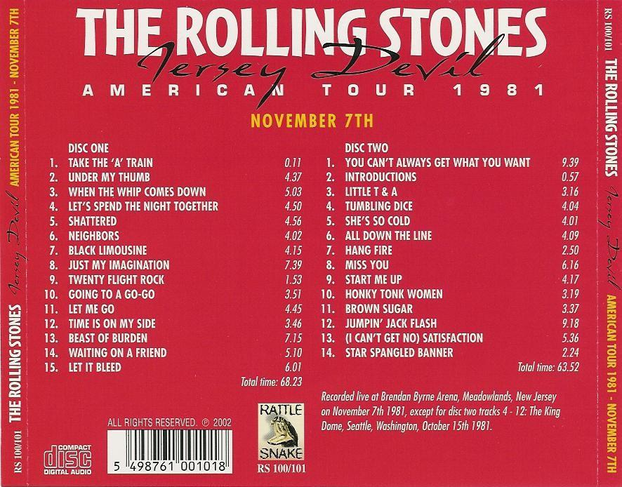 The Rolling Stones Jersey Devil