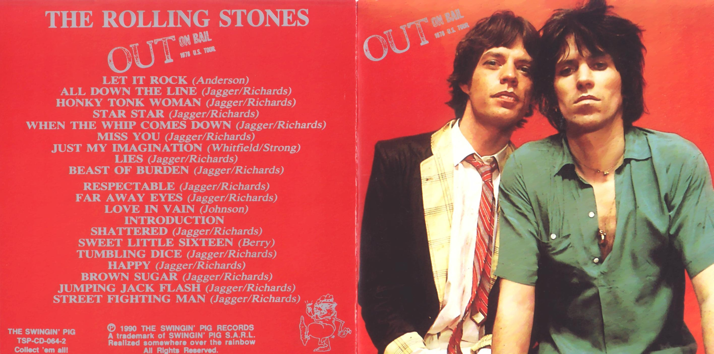 The Rolling Stones Out On Bail New Jersey 1978